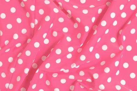 polka dot fabric: Rosa polka dot tessuto campione sfondo scompigli�