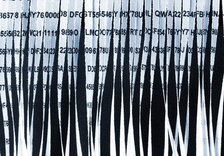 shredding: Closeup of paper document shredding Stock Photo