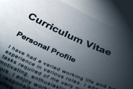 vitae: Close up of Curriculum Vitae title page