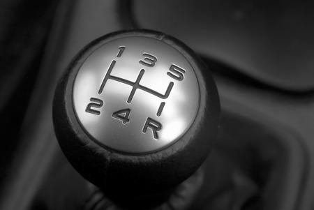 gearstick: Closeup of a car gearstick narrow depth of focus. Stock Photo