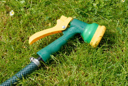 hosepipe: Closeup of a hosepipe nozzle