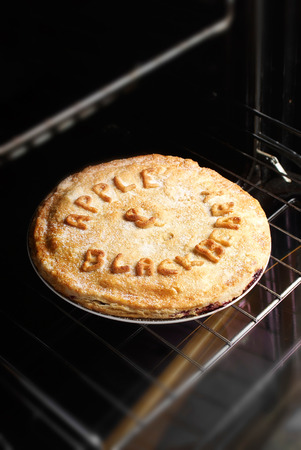 home cooked: Homemade pie. Made with homegrown apples and wild blackberries from England.