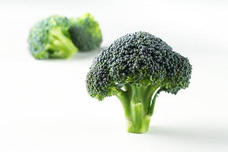 brocolli: Fresh raw brocolli stems Stock Photo