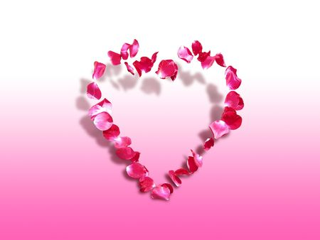 Heart of roses - symbol of love and affection - St. Valentine's greeting card Stock Photo - 689708