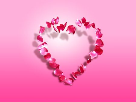 Heart of roses - symbol of love and affection - St. Valentine's greeting card Stock Photo - 689709