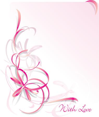 ecard: Cartolina dauguri astratta dellarco - priorit� bassa della st Valentines Day. Pink. Spazio per testo Vettoriali