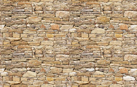 Stone wall rustic texture seamless background Stock Photo
