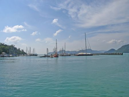 Pier at Langkawi island (Malaysia) Stock Photo