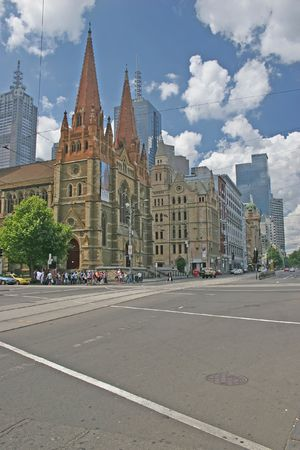 Photo of Saint Paul Cathedral (Melbourne, Australia) Stock Photo