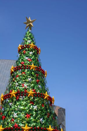 Christmas tree against the blue sky (Melbourne,Australia)