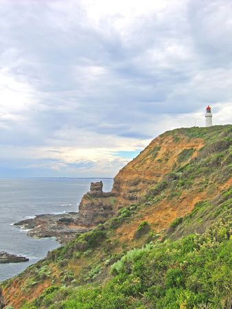 Lighthouse on australian coast (Victoria, Australia) Stock Photo
