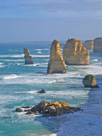 12 Apostles  is famous australian landmark (Great Ocean Road, Australia, Victoria) Stock Photo