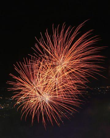 2 Firework Explosions Stock Photo - 708015