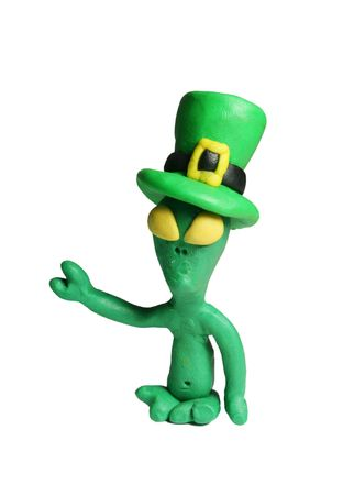 Aliens celebrates St. Patrick's Day too!!! Stock Photo - 763114
