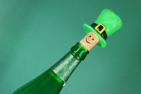 Beer bottle with a funny cork Stock Photo - 796115