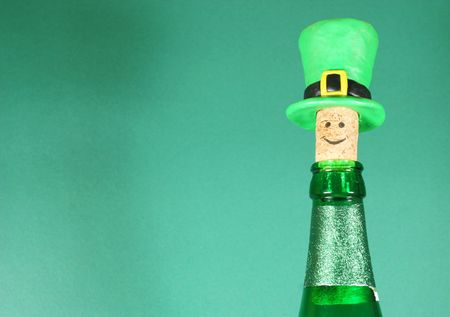 Beer bottle with a funny cork Stock Photo - 804795