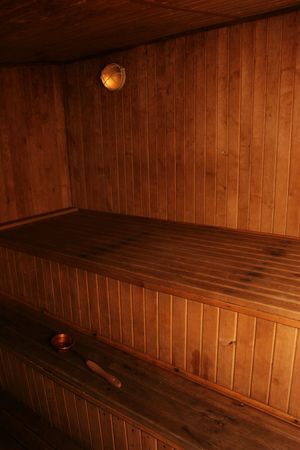 Modern wooden sauna interior photo