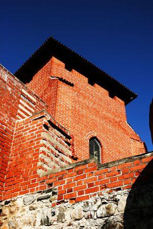 sigulda: Old tower and blue sky (Sigulda, latvia) Stock Photo