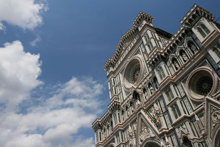 The Duomo against the cloudy sky (Florence, Italy) Stock Photo