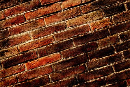 Fragment of an old and dirty brick wall Stock Photo
