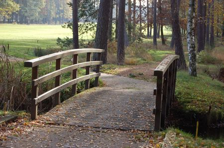 foot bridge: Woodlawn Golf Course Foot Bridge