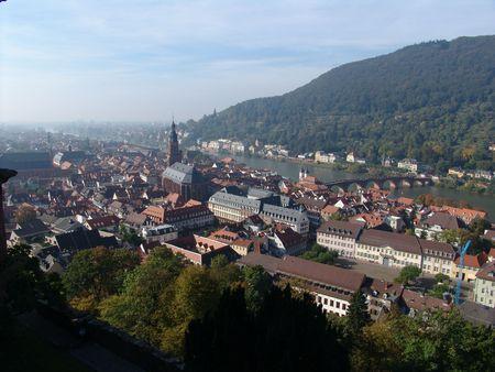 Birds Eye View of Heidelberg, Germany photo