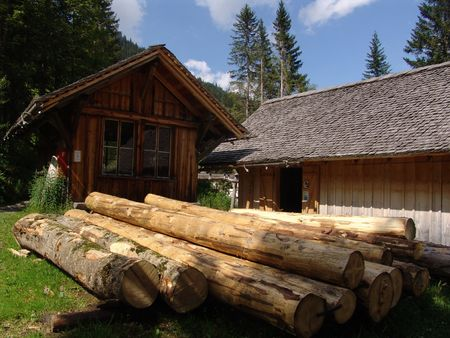 lumber mill: Logs and Lumber Mill in Switzerland