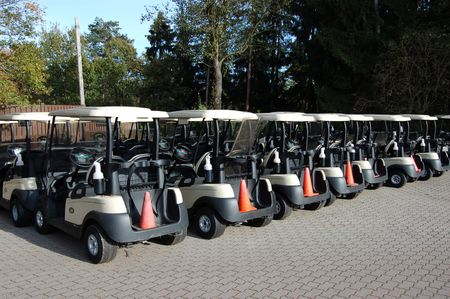 lineup: Golf Cart Line-up on Woodlawn Golf Course, Germany