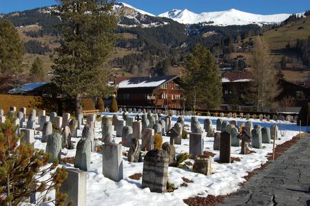cemetry: Church Cemetry in Lenk, Switzerland