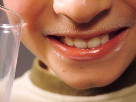 sip: milk, drink, boy Stock Photo