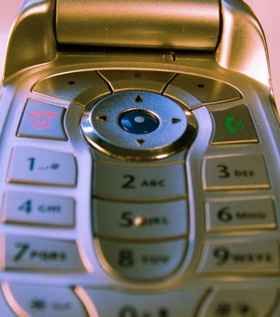 buttom: phone, telephone, mobile, cell, keys Stock Photo
