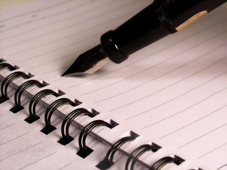 notebook, spiral, pen, concept photo