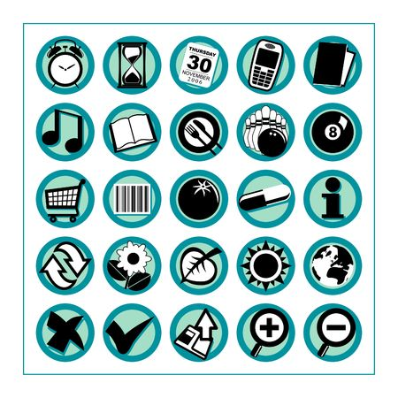 Useful Icons 2 - Version 1: Collection of 25 different useful icons #2 - Version 1. Please check other versions and sets. photo