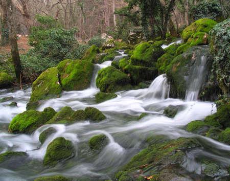 The mountain river in Crimea Stock Photo
