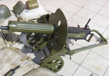 Machine gun Maxim the historical weapon