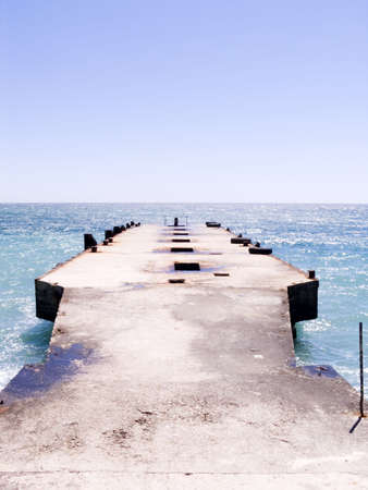 cloudless: Sea pier for mooring the small ships