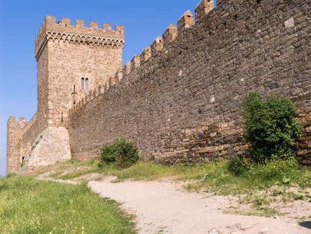 stronghold of genoese crimea, sudak photo