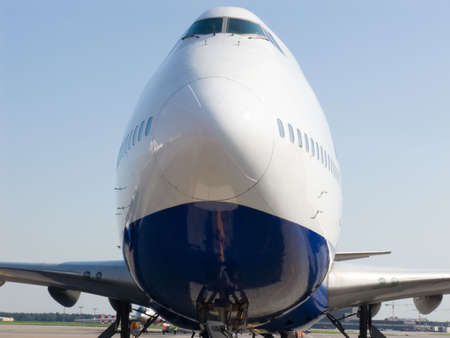 Frontal Shot of Airplane close up
