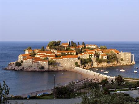 respectable: Respectable resort island of Sveti Stefan in Montenegro in the early morning sun