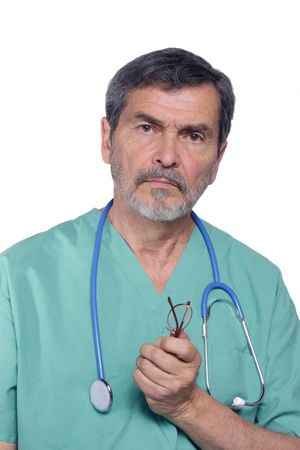 md: Medical Doctor MD Surgeon with stethoscope Stock Photo
