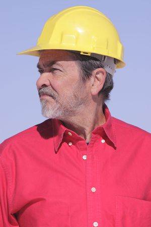 Architect, Contractor with Hard Hat Stock Photo - 6101080