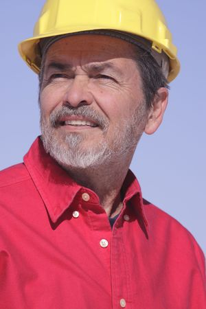 Architect, Contractor with Hard Hat Stock Photo - 6101081