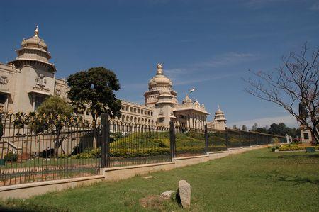 legislature: vidhana soudha, bangalore, india Stock Photo
