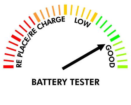 indicatore: batteria di test strumento per verificare il livello della batteria