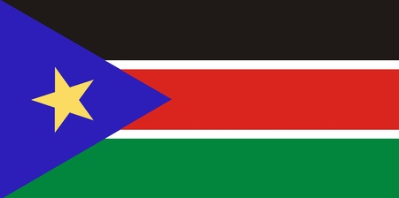National flag Republic of South Sudan, Northeast Africa photo