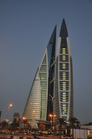 Bahrain World Trade Center Manama Stock Photo - 13336775