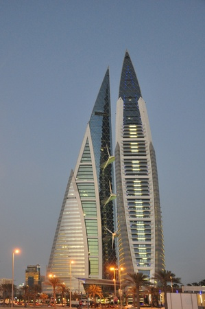 Bahrain World Trade Center Manama Stock Photo - 13336773