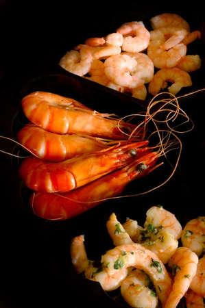 Shrimp selection Stock Photo