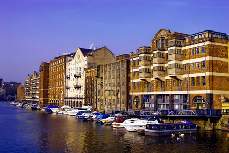 View of Bristol Harbour, England.
