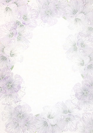 notelet: Delicate High-Key  floral Background.